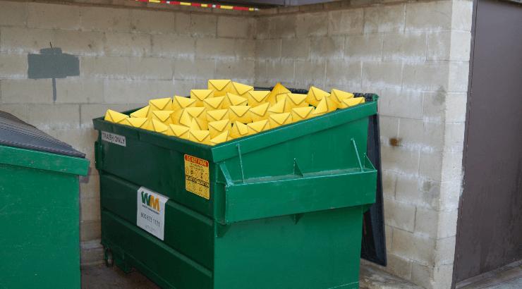 dumpster full of email