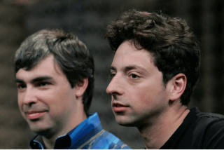 Larry Paige and Sergey Brin looking confused