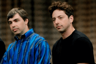 Larry Paige and Sergey Brin dumbfounded