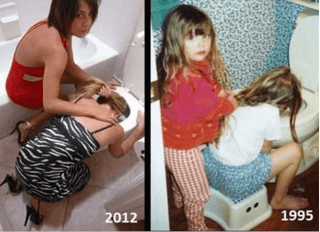 sisters then and now