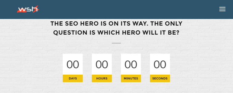 Which SEO Hero teaser screen